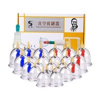 Massager Cans Monitors 24pcs Vacuum Kit Pull Out Vacuum Apparatus Therapy Cupping Acupuncture Suction Cup Cellulite