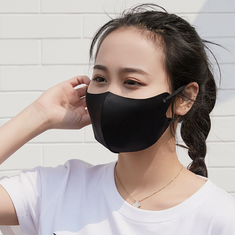 Men And Women Couple Masks Fashion Three-Dimensional Ice Silk Sunscreen Dust Mask Spring And Summer