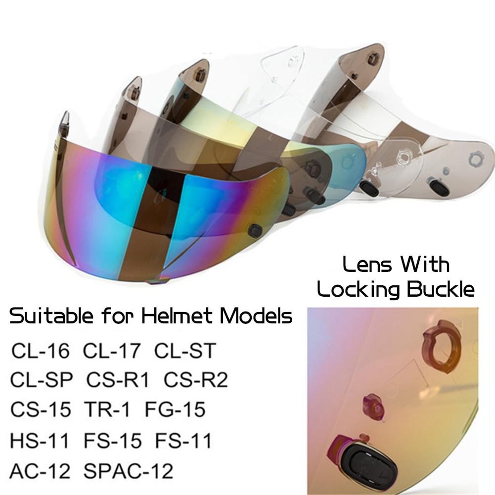 Dark Smoke HJC Cs-15 Helmet Visor Hj-09 CL-16 CL-17 CL-ST CL-SP CS-R1 CS-R2 CS-15 TR-1 FG-15 HS-11 FS-15 FS-11 Transparent Dark Smoke Gold Silver Chrome Aftermarket