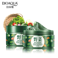 BIOAQUA Brand Vegetables Mud Mask Face Skin Care Deep Cleaning Acne Blackhead Treatment Hydrating Moisturizing Facial