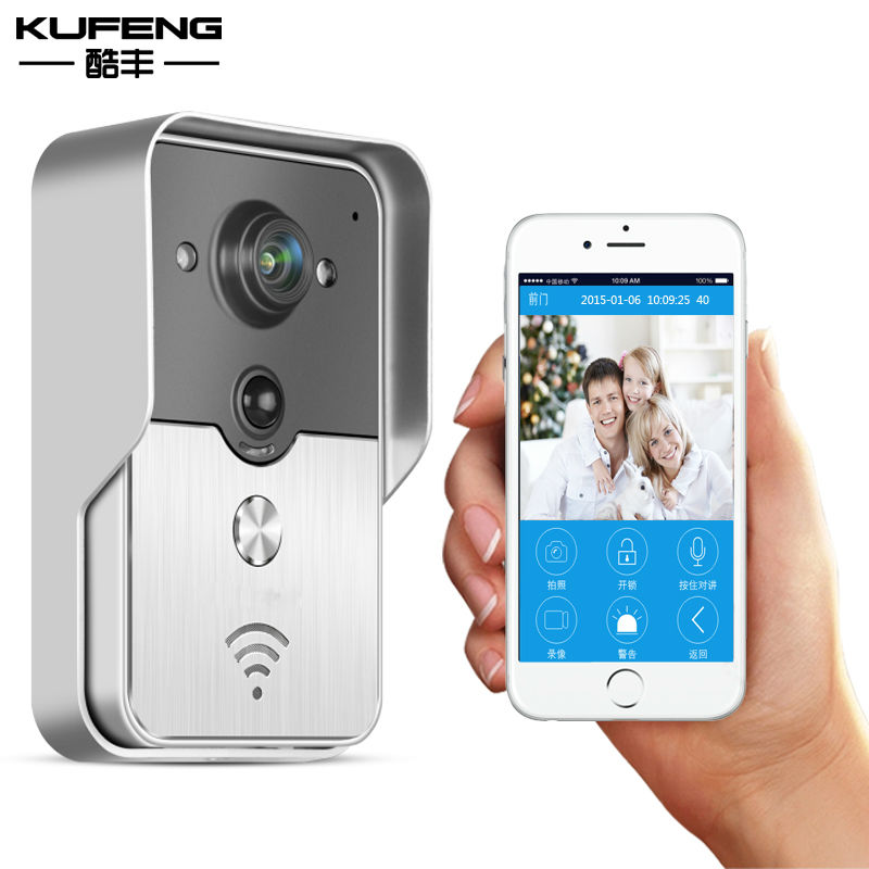 2017 New hot TNT HD Wifi Camera Wireless Doorbell Video Intercom IP Camera Doorbell with monitor IOS Android phone Free Shipping new hot adaptateur hd 720p wifi doorbell video door intercom viewer ip camera wireless doorbell ios android phone free shipping