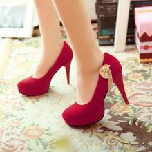 ปั๊มผู้หญิงรองเท้าฝูงใหม่31 32 33 47 46 45 44 43 40ส้นสูง10เซนติเมตรแพลตฟอร์ม2เซนติเมตร30-48