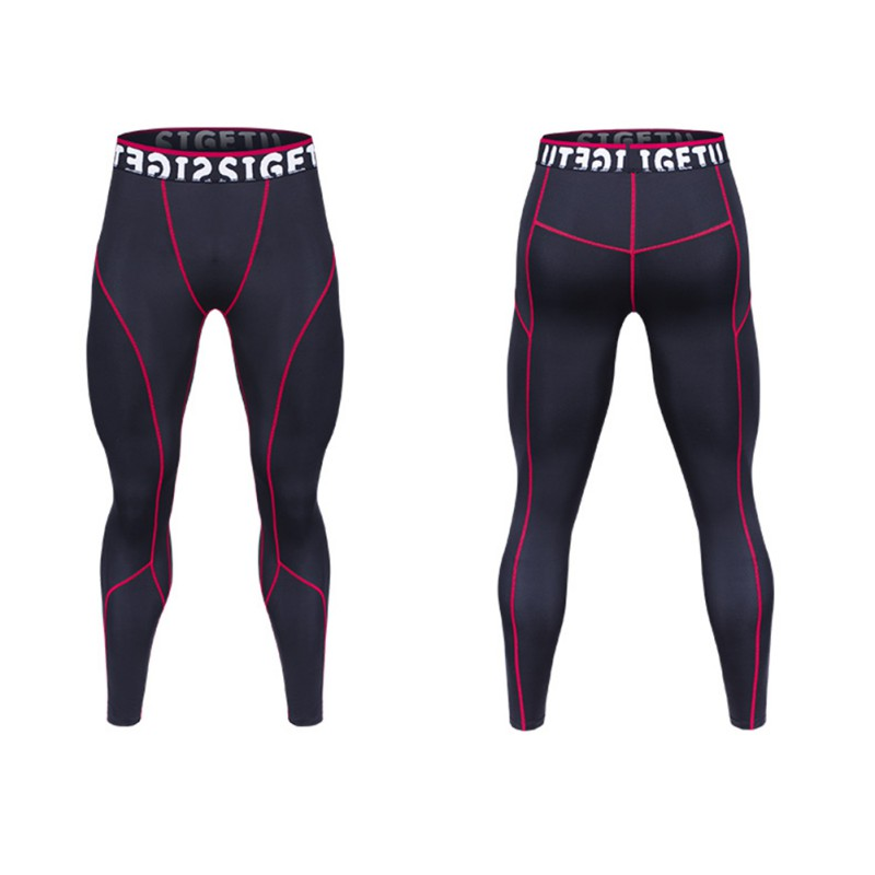 Male Sport Pants Running Cycling Tights Legging Compression Sport Leggings Gym Men Fitness Sportswear Training Pants 2018