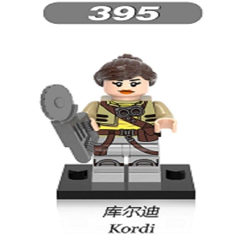 Single Sale Super Heroes Marvel Kordi Star Wars Figures Rowan NAARE Building Blocks Toys For Children Christmas Gift XH 395