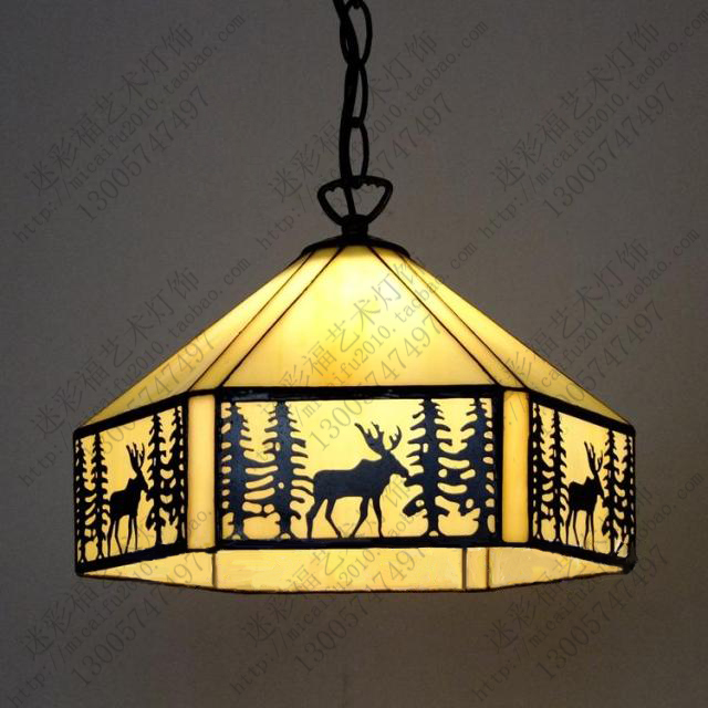 North America Tiffany pendant light Bar Cafe Restaurant study bedroom lamps E27 110-240V худи print bar america