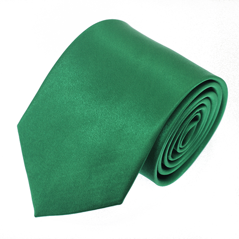 Green 8CM Classic Mens Tie Necktie Solid Ties For Man Business Wedding Gift Party
