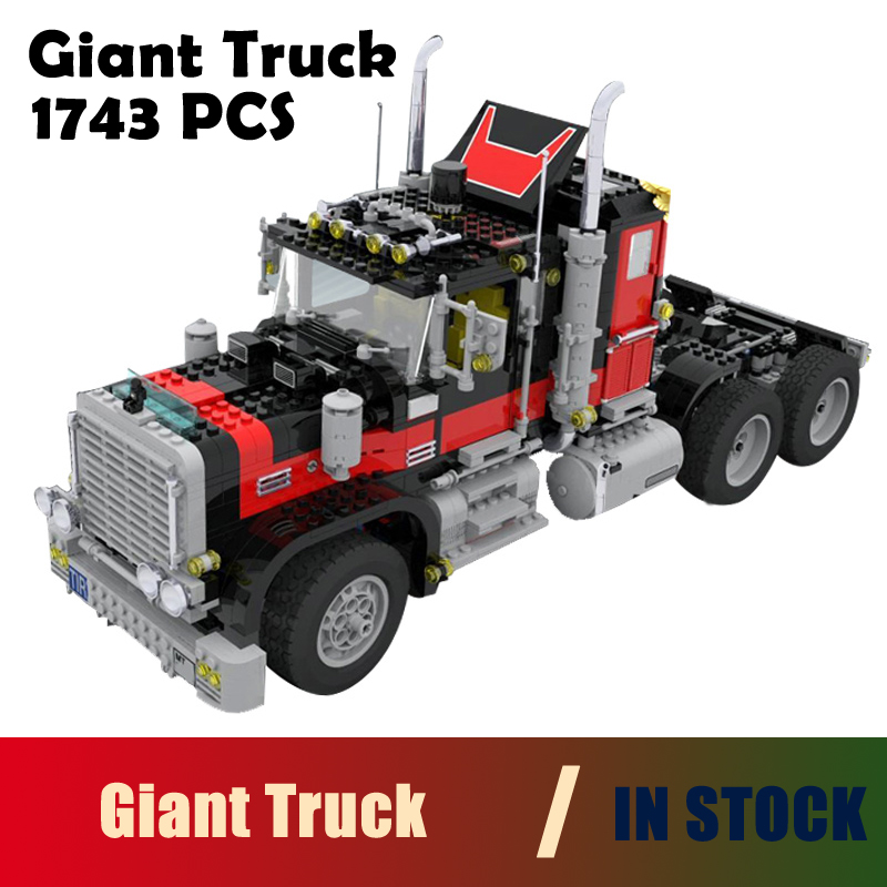 Models building toy 21015 1743Pcs The American Black Cat Truck Building Blocks Compatible with lego Creative 5571 toys & hobbies building soviet citizens with american tools