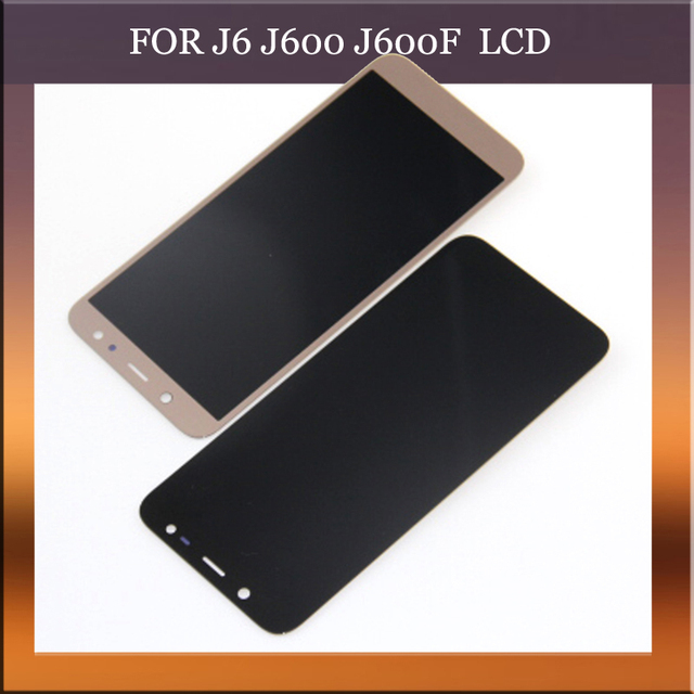 ee6cd9e2f3e J6 LCD for Samsung GALAXY J6 J600f Display Touch Screen Digitizer Assembly  Replacement Black Gold