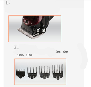 Image 5 - Professional Kemei Titanium Blade Corded Electric Haircut Cutting Machine Barber + limit comb for kids adult men 110 240V
