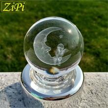 Zipi Home Silver The Moon & a children music box 18 Tones music box movement DIY romantic music Acrylic music box birthday gifts