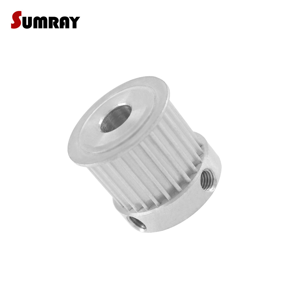 SUMRAY 3M 25T Timing Pulley 5/6/6.35/7/8/10/12/14/15mm Inner Bore Aluminium Pulley 16mm Belt Width Motor Belt Pulley 2pcs все цены