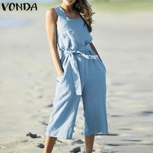 VONDA Rompers Womens Jumpsuit ropa de maternidad 2018 verano Playsuits  embarazo sólido Pantalón ancho pantalones embarazadas 592bbd715675