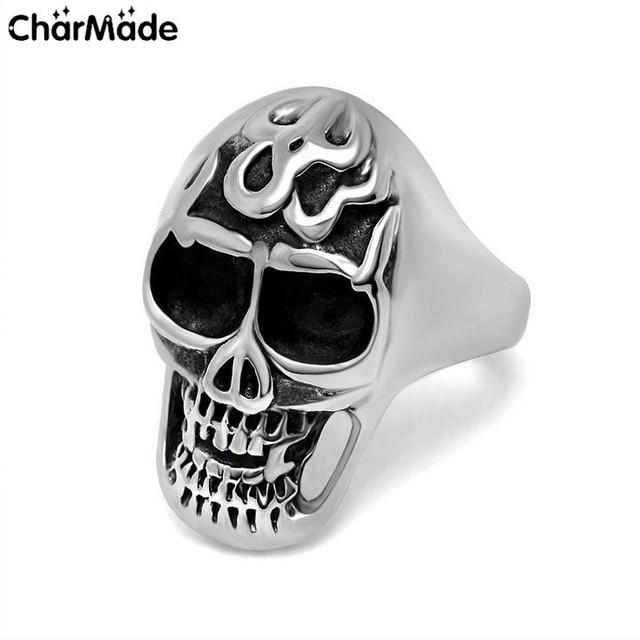 Cool Goth Punk Skull Rings