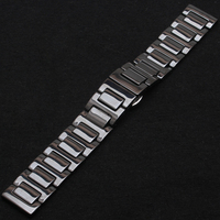 Ceramic Strap Watch Band fit Diamonds Dress Wristwatch mens womens strap bracelet 14mm 16mm 18mm 20mm 22mm promotion watch band