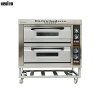 XEOLEO Electric Baking oven Food Oven Bread baking machine Commercial 2 layers 4 pans Bakery oven with Digital Timer 380V 13000W