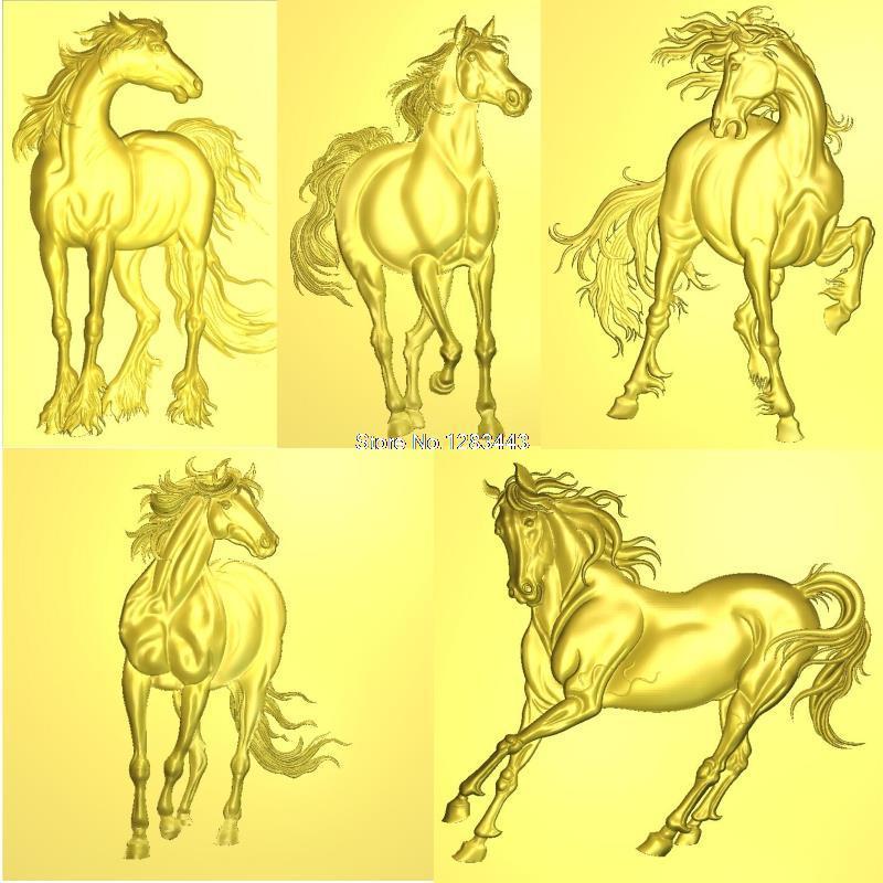 14PCS 3D Horse High Quality New 3D Model For Cnc 3D Carved Figure Sculpture Machine In STL File Fine Horse