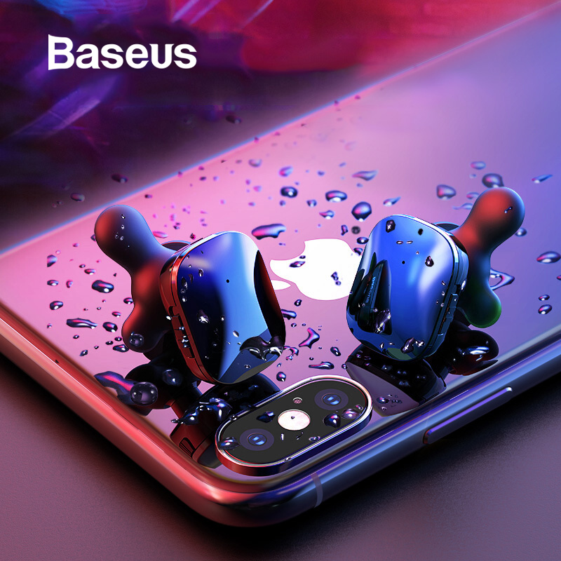 Baseus W02 Bluetooth Earphone TWS Earbuds Waterproof Twins Headsets Stereo Sound Handsfree Wireless Bluetooth Earphone With MicBaseus W02 Bluetooth Earphone TWS Earbuds Waterproof Twins Headsets Stereo Sound Handsfree Wireless Bluetooth Earphone With Mic