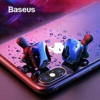 Baseus W02 Bluetooth Earphone TWS Earbuds Waterproof Twins Headsets Stereo Sound Handsfree Wireless Bluetooth Earphone With Mic