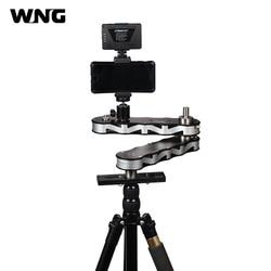 4-times Distance Retractable MINI Aluminum Alloy Video Slider for DSLR Camera Micro Camera Smartphone