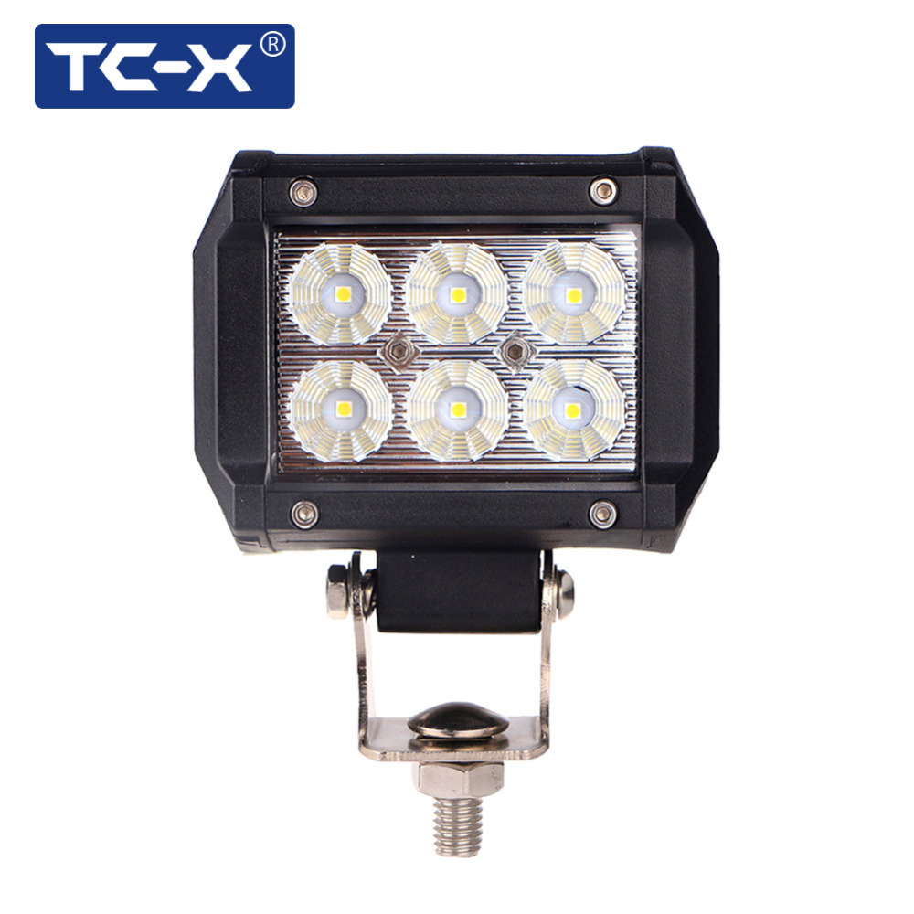 TC-X Led-lichtleiste 18 Watt 4 zoll Led-lichtleiste Flut 12 V 24 V ...