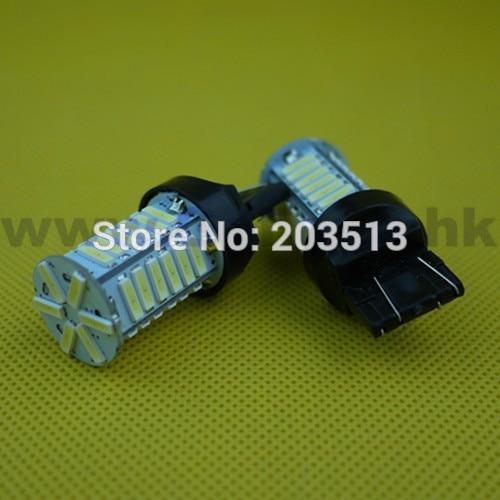 100pcs/lot wholesale Auto car led lighting WY21W W21/5W t20 36 smd 7443 36 leds 7014SMD white bulb Free shipping