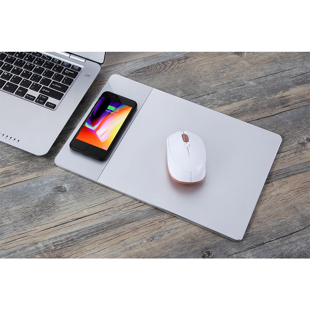 Sago P91 Wireless Charger Computer Mouse Pad Wireless Charger Receiver for iPhone X 8 Plus Samsung Galaxy Note 8 S8 S7 S6 Phone qi wireless charger pad transmitter with receiver set for samsung galaxy s5 black