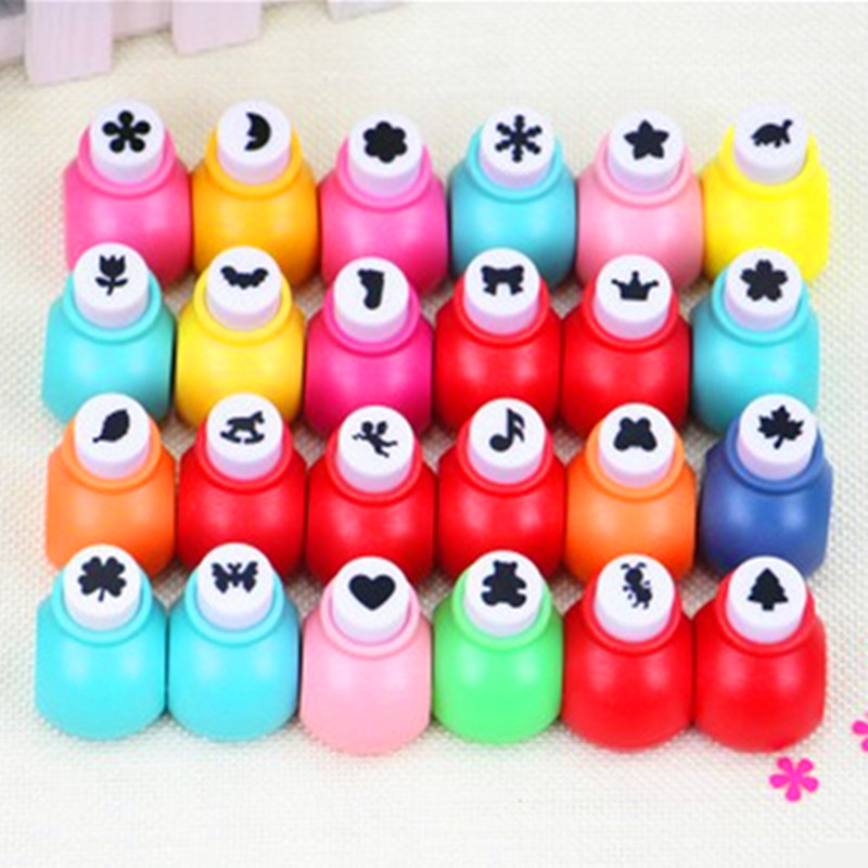 10 Pcs/lot Wholesale Random Mini DIY Hole Punch Craft Scrapbooking Handmade Cut Card For DIY Gift Card Paper Puncher