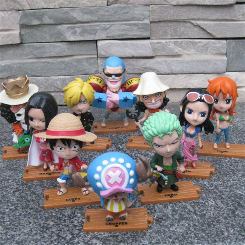 10pcs/lot Anime Figures One Piece Action Figures PVC Luffy/Zoro/Chopper Brinquedos Model Moive Collection Kids Toys 12cm hot sale 26cm anime shanks one piece action figures anime pvc brinquedos collection figures toys with retail box free shipping