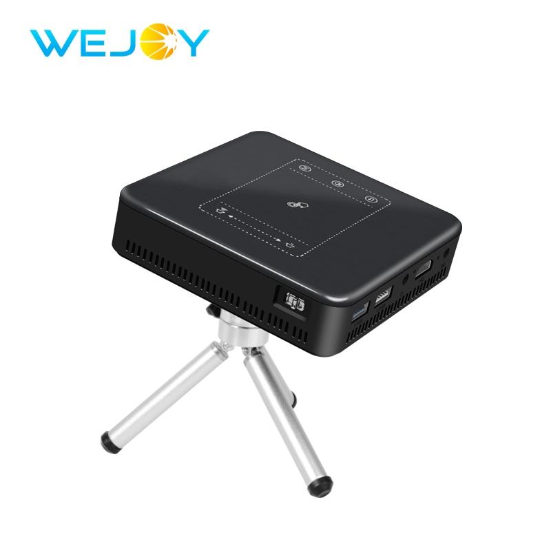 Wejoy Mini DLP проектор, светодиодный, Android 7,1, Full HD, видео, сенсорный, карманный