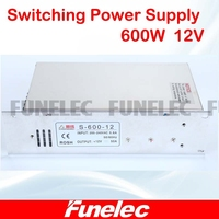 AC 110V 220V To DC 12V 50A 600W Transformer Switch Power Supply For Led Strip Led