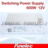 AC 110V 220V To DC 12V 50A 600W Transformer Switch Power Supply For Led Strip Led