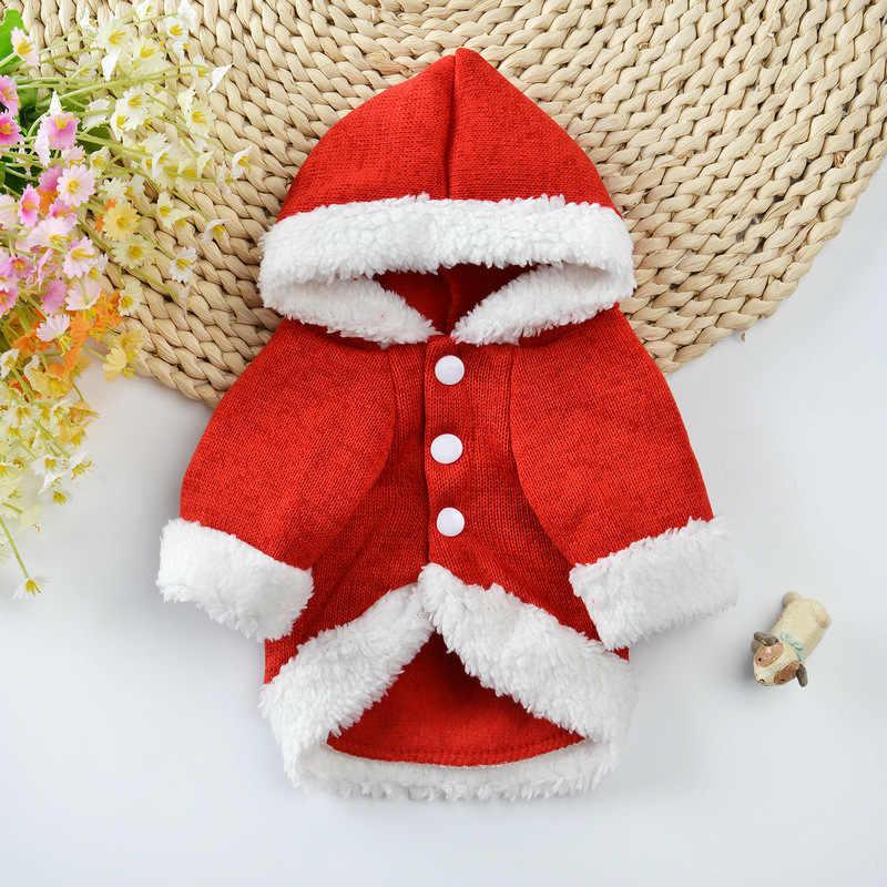 Новый зимний теплый Вязанный свитер для собак Тедди Маленький Средний щенок кошка Рождественская одежда французская одежда для бульдога куртка для собак 45