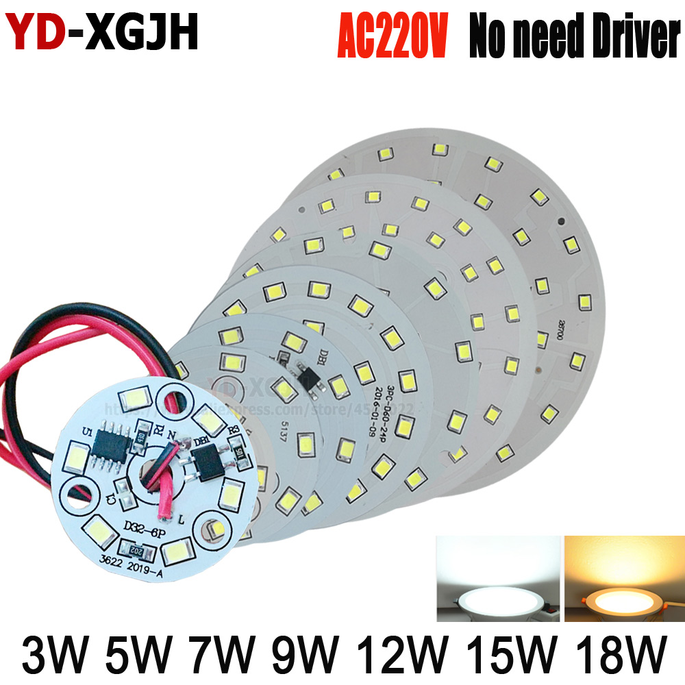 AC220V LED SMD Chip luz 3W 5W 7W 9W 12W 15W 18W SMD2835 aplicable a DIY al aire libre Flood luz al aire libre cinturón línea 20cm LUCKYLED luz LED moderna de pared espejo de Baño Luz 9W 12W AC 90-265V lámpara de pared impermeable