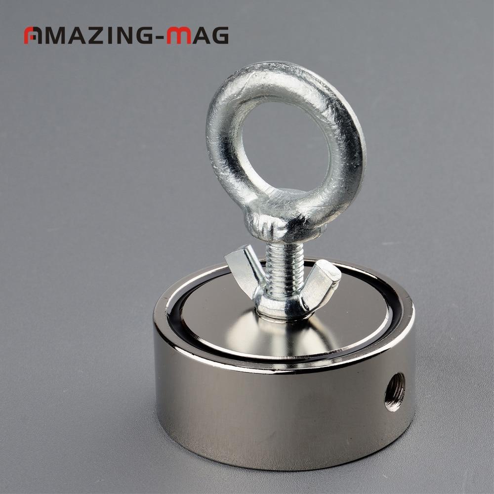 1 шт. 200 кг * 2 сильный Мощный Неодимовый магнит Deep Sea Рыбалка SalvageMagnet с веревкой D67 * 28 мм Охотник за сокровищами Imanes