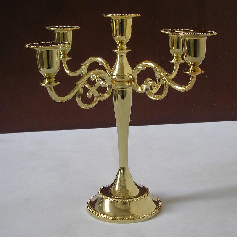 μοντέρνο χέρι 5 χρυσό κάτοχος κερί - Διακόσμηση σπιτιού - Φωτογραφία 2