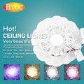 85-265 V 5 W 200*200mm Muito bonito LED de Cristal lâmpada do teto para Corredor sala de estar quarto de cristal Downlight LEVOU holofotes