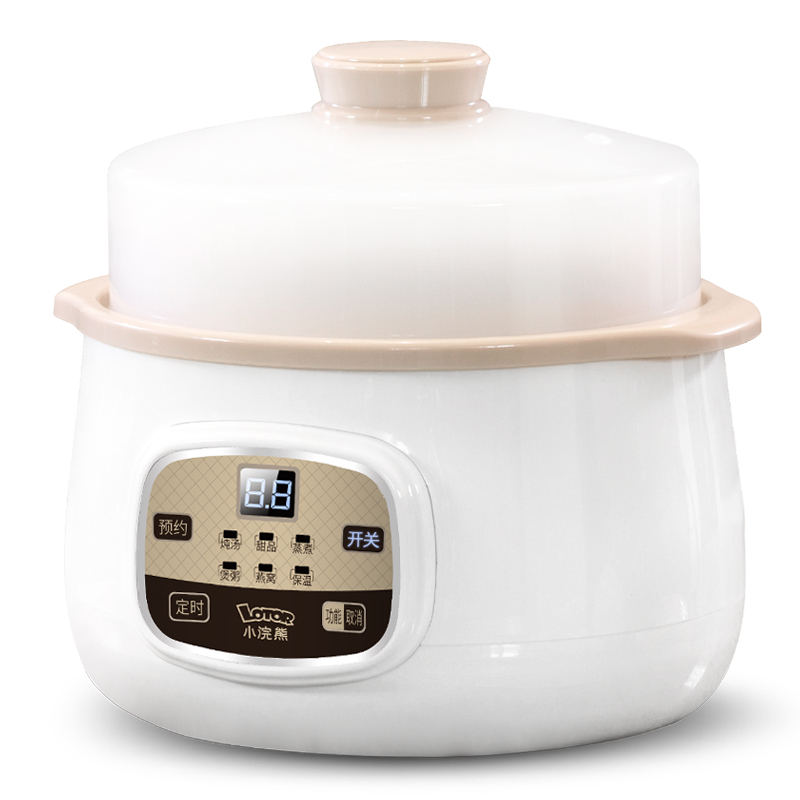 Water Isolated Electric Cooker Mini Soup Pot Fully Automatic Ceramics Baby Porridge Electric Stew Pot cukyi household 3 0l electric multifunctional cooker microcomputer stew soup timing ceramic porridge pot 500w black