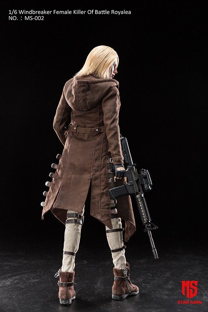 """1:6 STAR MAN Windbreaker Female Killer Headsculpt Model For 12/"""" Female Figure"""