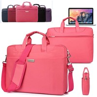 Soft Nylon Waterproof Laptop Case Sleeve Shoulder Bag Briefcase W Pocket Handle For Apple Macbook Air