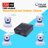 4ch PIR IP Camera And NVR Kit Wireless With 4pcs Wifi 720P HD Pan Tilt Mini