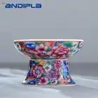 Jingdezhen Boutiques familia Rosa porcelana flor té Strainers China Kung Fu juego de té ea filtro accesorios decoración creativa para el hogar