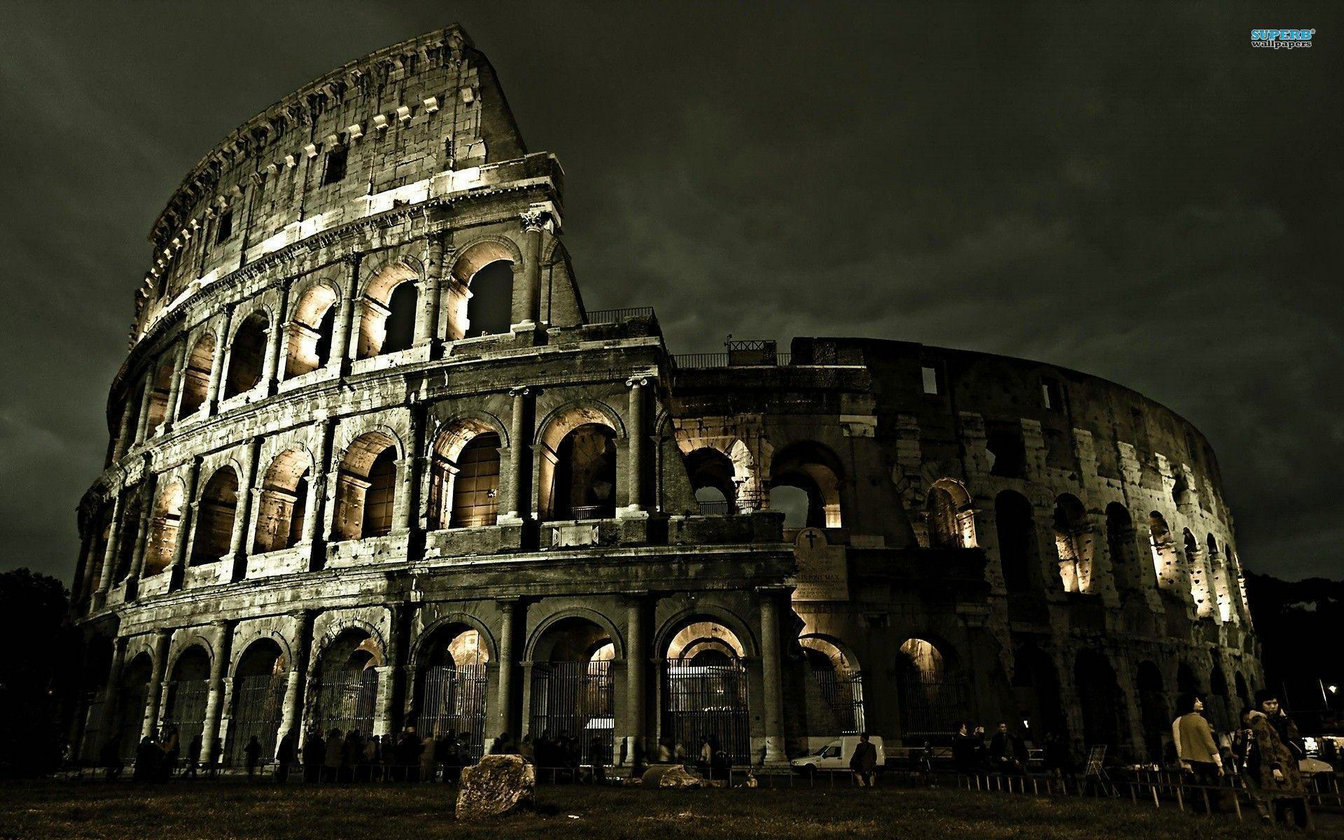 Ancient Rome Colosseum Night Dark backdrop  High quality Computer print party photography backgrounds|Background| |  - title=