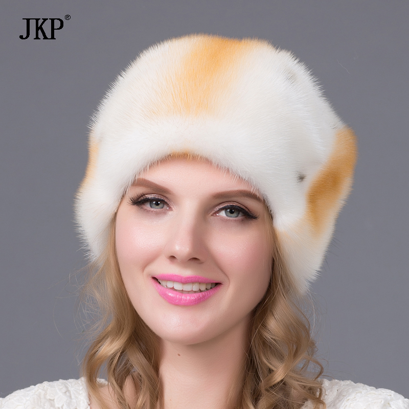 Real Mink fur hats winter women fur cap New fashion Mink fur hat Russia good quality elegant hat real mink fur hat for women winter full fur hat with flower top 2016 new arrival good quality multicolor female luxury mink cap