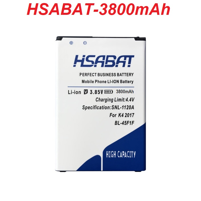 HSABAT Battery For BL-45F1F Aristo 3800mah K4 M160 MS210 K8 Newest LG