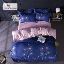 SlowDream The Dandelion Bedding Set Fashion Flat Sheet Bed Linen Bedclothes Cover Double Queen Pastel
