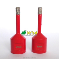 M14 Connection 2pcs Vacuum Brazed Diamond Drilling Core Bits Dry Drilling Dia6mm