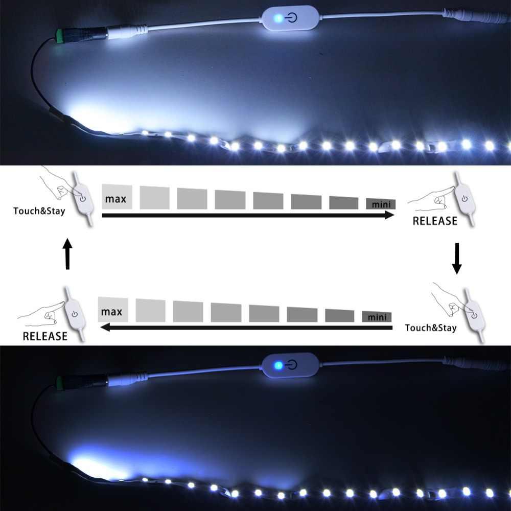 DC12V-24V 3A LED ściemniacz dotykowy przełącznik jasność funkcja pamięci z DC kobieta wtyk męski do sterowania LED pasek światła