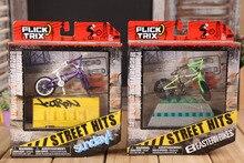 Alliage professionnel 1:50 mini BMX doigt bmx emballage de détail mini doigt bmx doigt vélos ensemble avec ameublement pour enfants cadeau