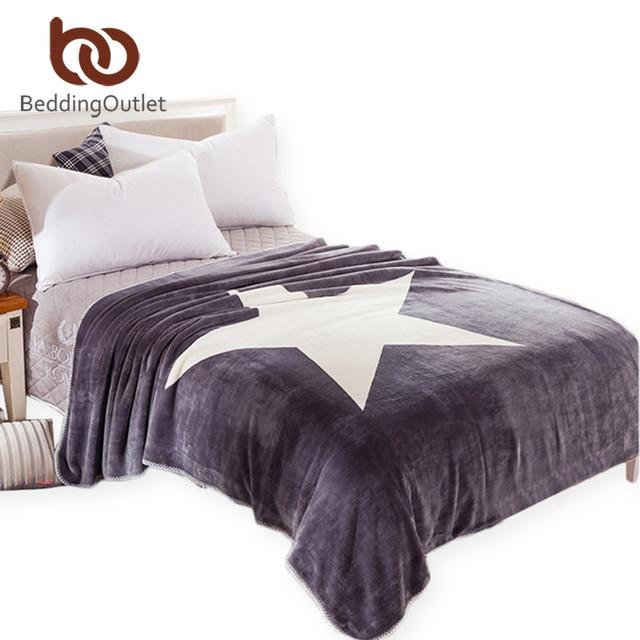 Beddingoutlet Sterne Decke Grau Und Weiß Decke Auf Dem Bett Sofa