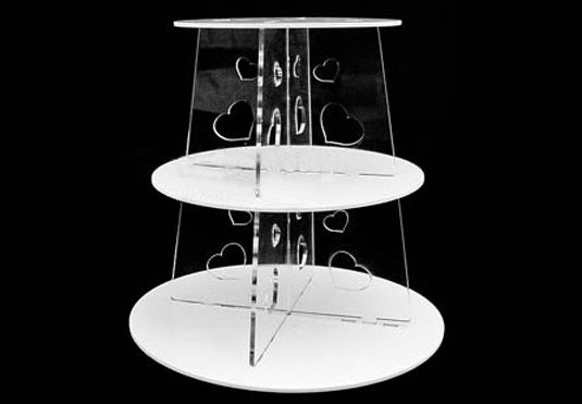 three tier cake stand wedding free shipping 3 tier white circle glass tiered 7983
